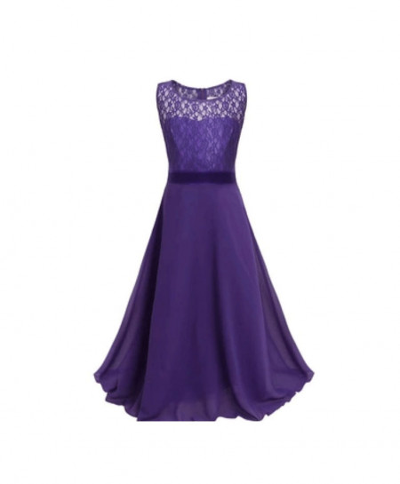 Soft Purple Stylish Plain Maxi AM-264