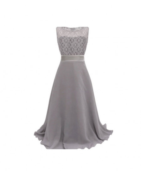 Soft Grey Stylish Plain Maxi AM-265