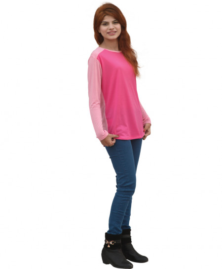 Shocking Pink Stylish Ladies Top SF-035