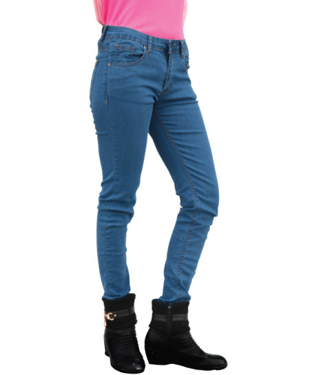Light Blue Skinny Ladies Jeans SF-038