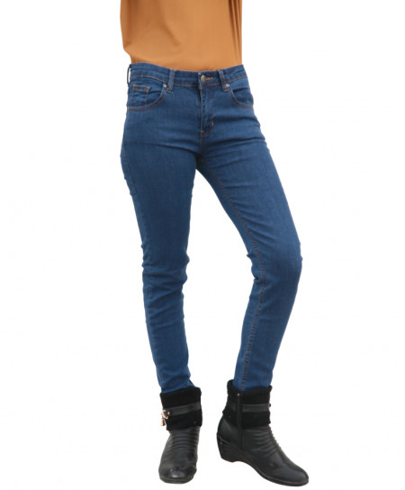 Blue Skinny Ladies Jeans SF-039
