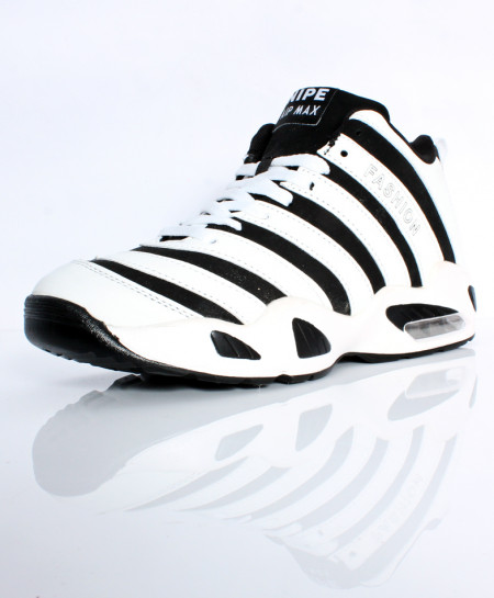 Black White Stitched Design Casual Shoes DR-381