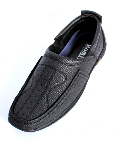 Black Trendy Slip On Shoes IS-011