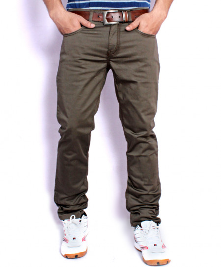 Choco Brown Casual Chino Cotton Pants SA-007