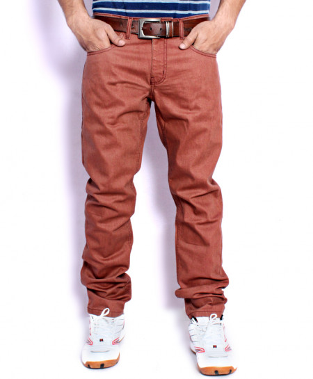 Reddish Brown Casual Chino Cotton Pants SA-008