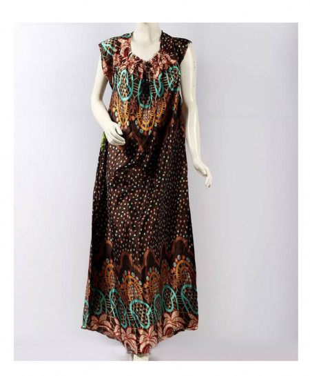Silk Brown Stylish Plain Maxi AM-273