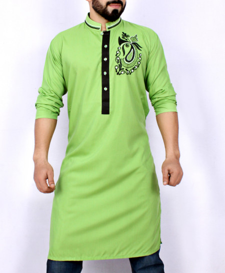 Green Embroidered Stylish Kurta ARK-931