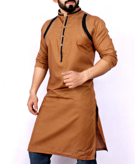 Brown Embroidered Stylish Kurta ARK-933