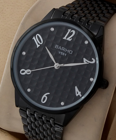 Bariho Black Dial Watch V-551