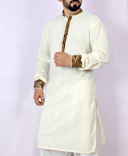 Off-White Stylish Design Kurta Shalwar ARK-959