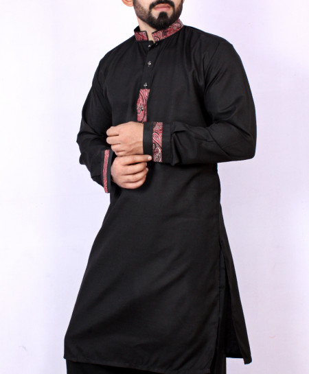 Black Stylish Design Kurta Shalwar ARK-961