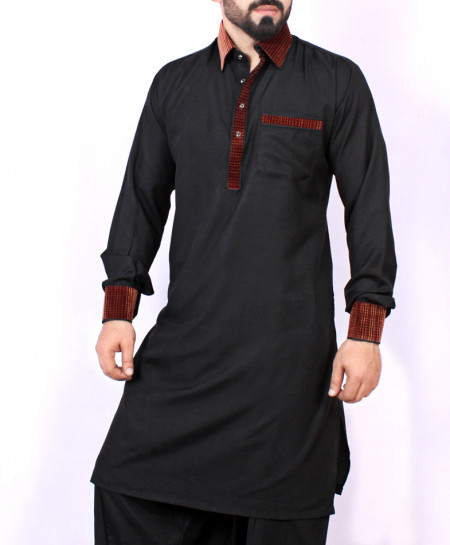 Black Stylish Design Kurta Shalwar ARK-963