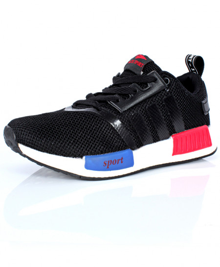 Black Strips Design Sport Shoes DR-393
