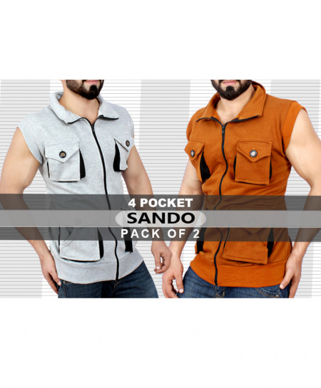 Pack Of 2 Fleece Sando SC-383