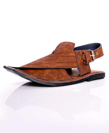 Slate Brown Stitched Stylish Peshawari Sandal AK-1036
