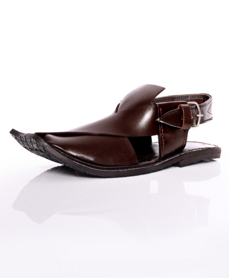 Choco Brown Plain Peshawari Sandal AK-1040