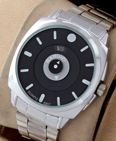 Bariho Black Dial Stylish Casual Watch A-807