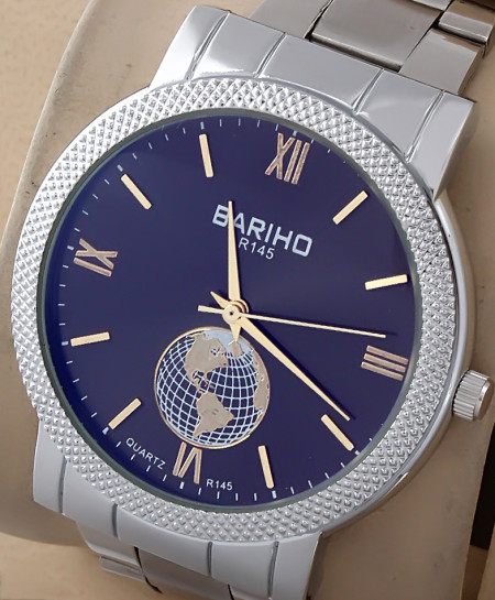 Bariho Blue Dial Stylish Casual Watch R-145