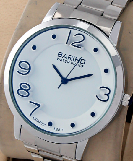 Bariho White Round Dial Stylish Casual Watch E-0511