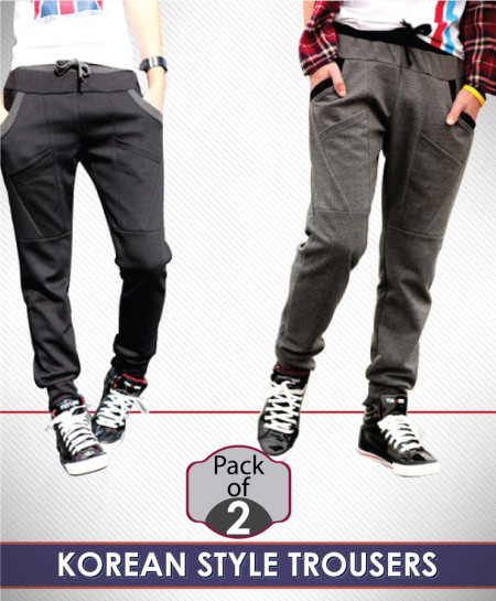 Pack of 2 Korean Style Trousers QZS-109