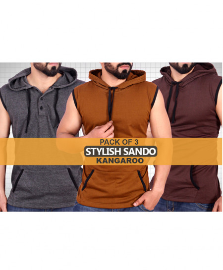 Pack Of 3 Kangaroo Style Sando DS-4436