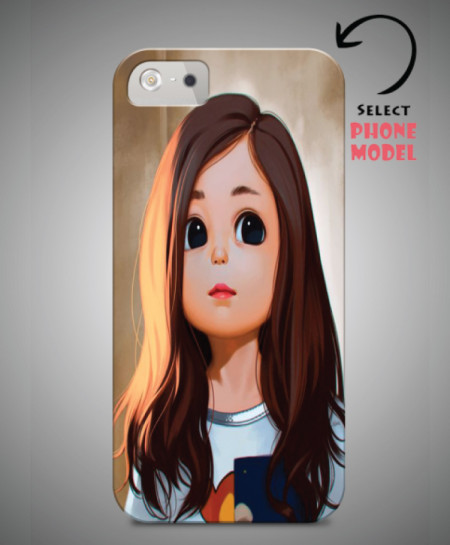 los angeles d1a60 bb6dd Cartoon Girl Printed Mobile Back Cover WS-049