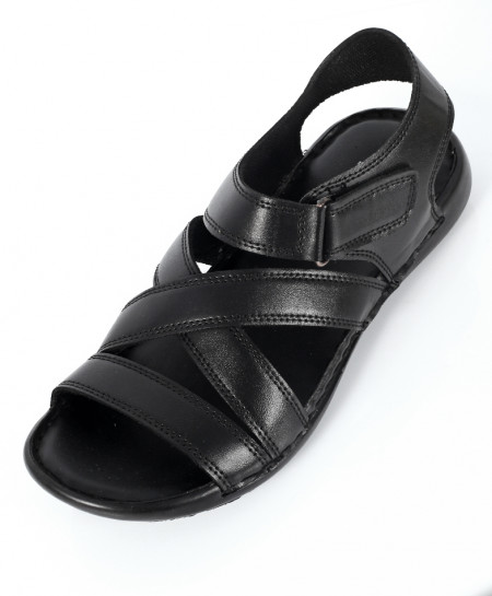Black Cross Strap Casual Sandal NCP-561