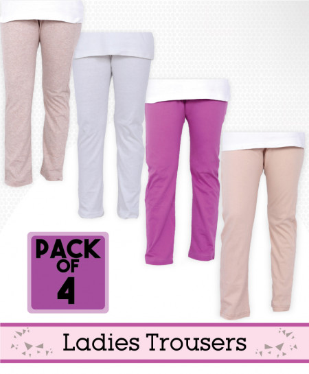 Pack Of 4 Ladies Trousers AG-31