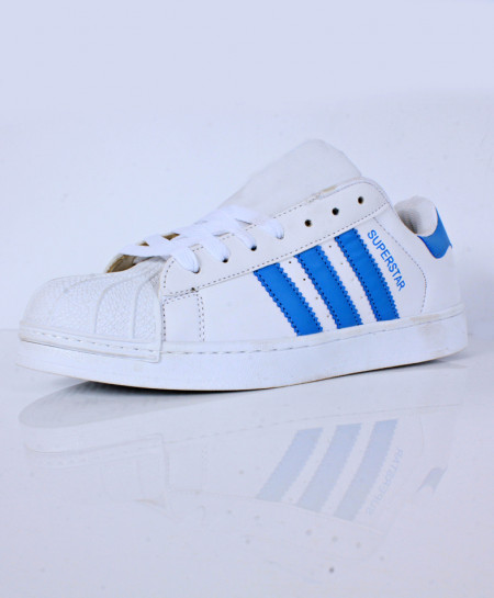 White Blue Strips Stylish Sports Shoes CB-2137