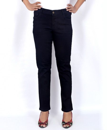 Navy Blue Stylish Ladies Jeans FHS-006