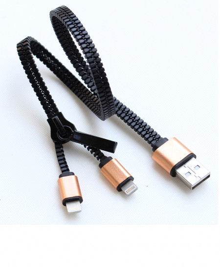 Pack Of 3 Zipper Charging Cable for iPhone