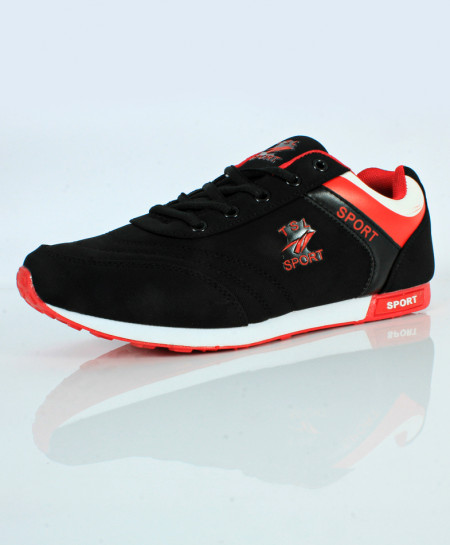 buy black stylish design sport shoes sc 637 in