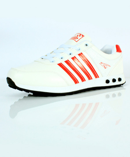 White Orange Tetra Stripes Sport Shoes SC-653