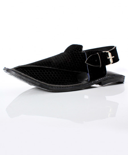 Black Stitched Stylish Peshawari Sandal AK-1089