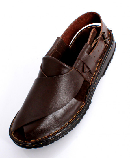 Choco Brown Handmade Leather Peshawari Sandal LC-522