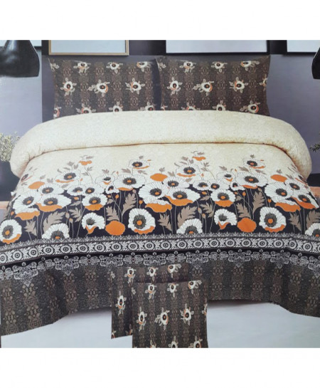 Beige Floral Style Cotton Bedsheet SY-450