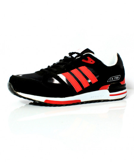 Black Red Stripes Design Stylish Sports Shoes DR-470