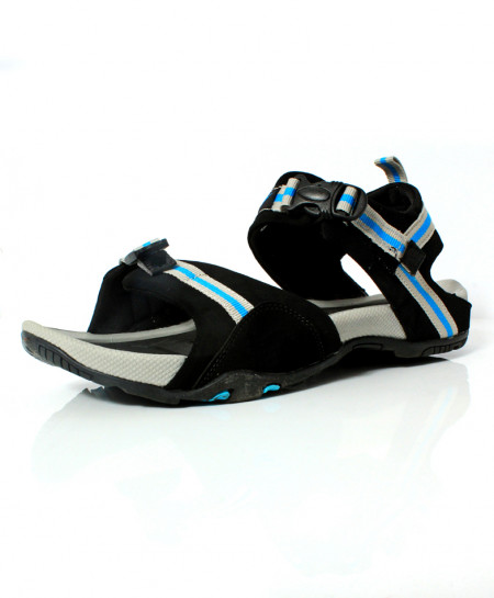 Black Stitched Design Casual Sandal DR-478