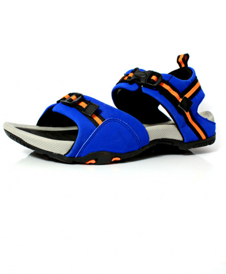 Royal Blue Stitched Design Casual Sandal DR-480
