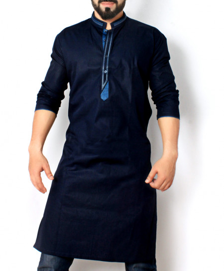 Navy Blue Stylish Design Kurta CD-012