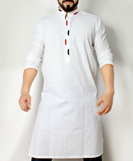 White Stylish Design Kurta CD-014