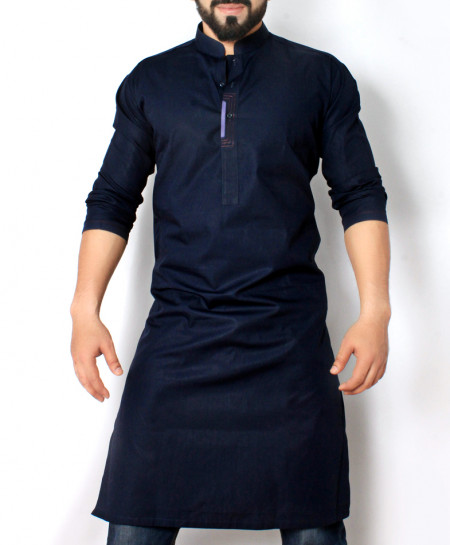Navy Blue Stylish Design Kurta CD-015