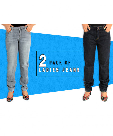 Pack Of 2 Stylish Ladies Jeans FSK-730