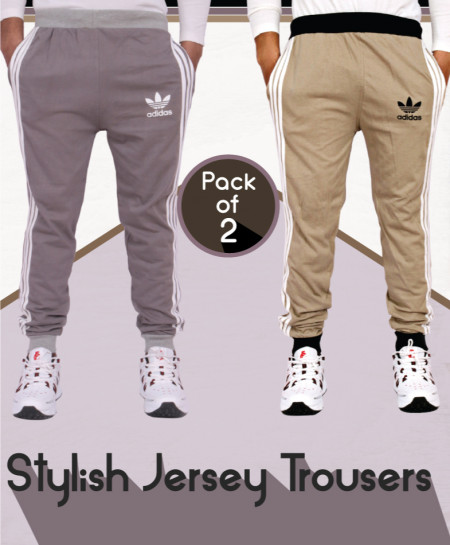 Pack Of 2 Stylish Jersey Trousers AG-23