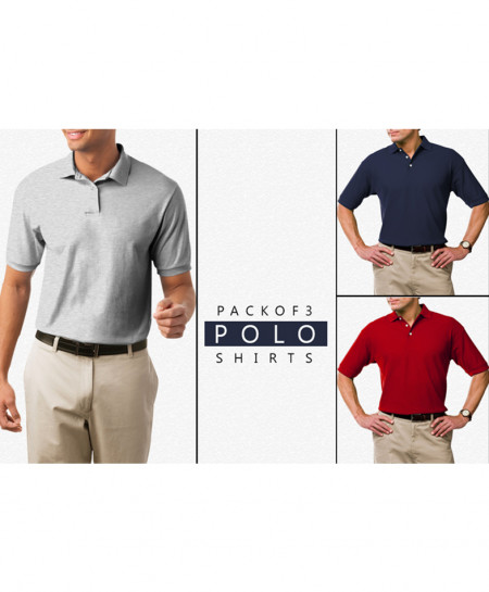 Pack Of 3 Polo Stylish T-Shirts FHP-555