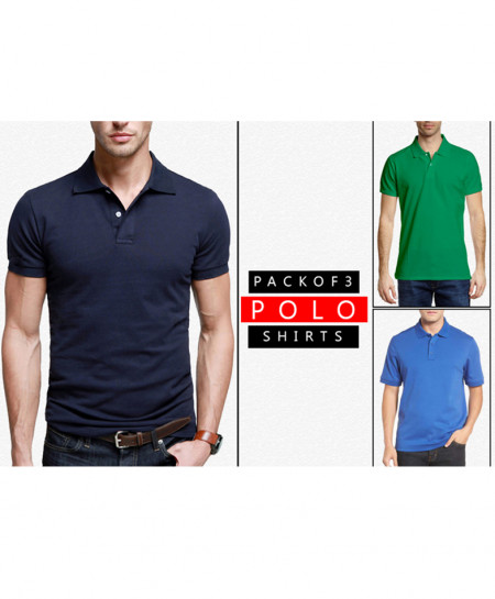 Pack Of 3 Polo Stylish T-Shirts FHR-789