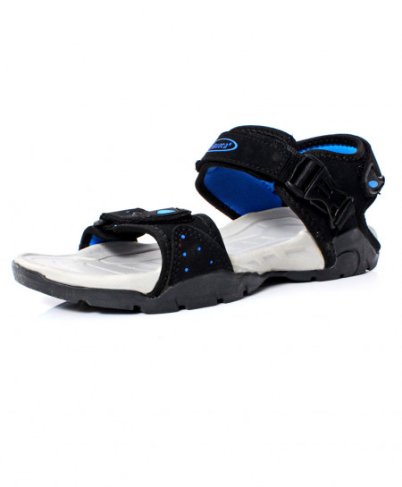 Black Blue Stylish Design Casual Sandal DR-495