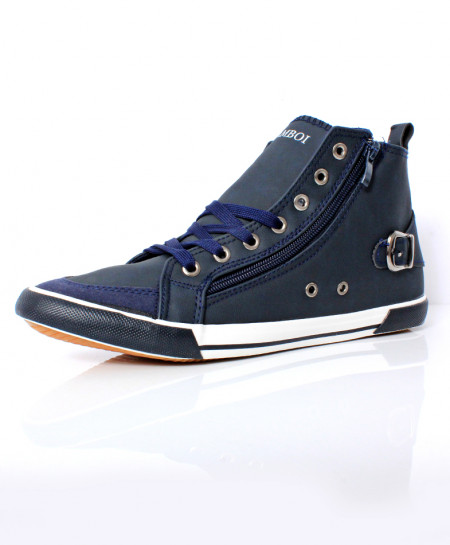 Blue Stitched Design Casual Shoes DR-503