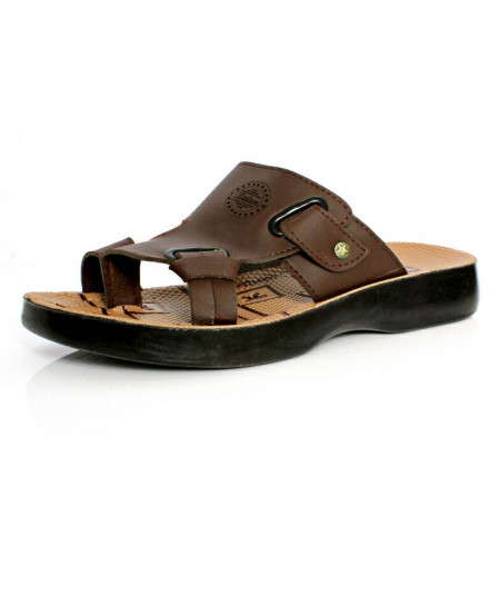 Brown Buckle Thumb Stylish Casual Slipper OS-003