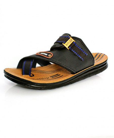 Black Buckle Thumb Stylish Casual Slipper OS-004